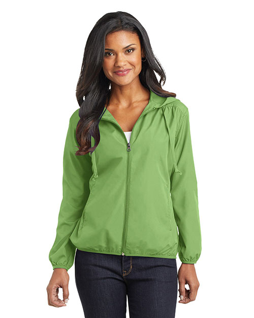 Port Authority L305 Women Hooded Essential Jacket Green Oasis at GotApparel