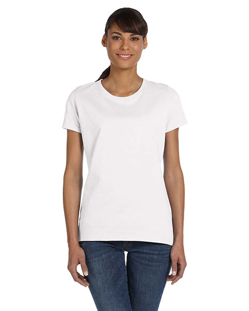 Fruit of the Loom L3930R Women 5 oz., 100% Heavy Cotton HD TShirt White at GotApparel