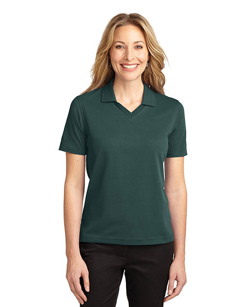 Port Authority L455 Women Rapid Dry™ Polo Dark Green at GotApparel