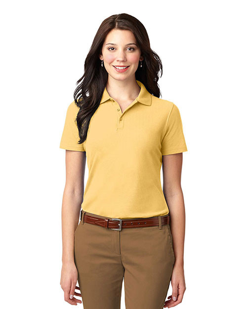 Port Authority L510 Women StainResistant Polo Banana at GotApparel