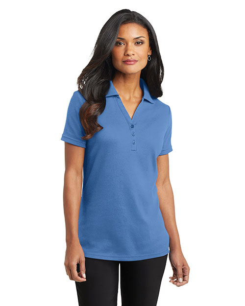 Port Authority L520 Women Silk Touch™ Interlock Polo Blue Lake at GotApparel