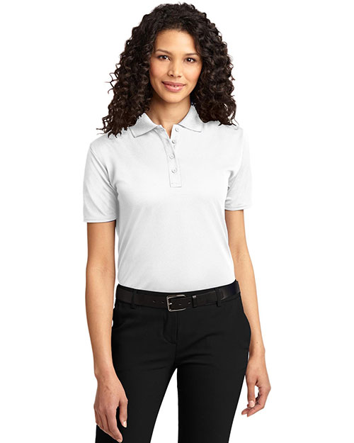 Port Authority L525  Ladies Dry Zone Ottoman Sport Shirt White at GotApparel