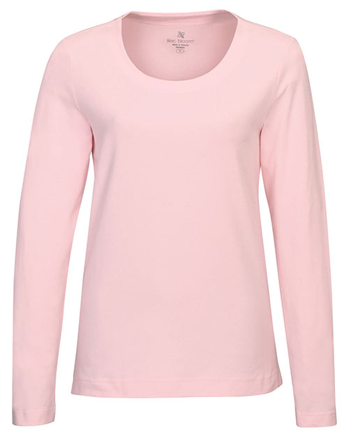 LILAC BLOOM LB135 Women Lauren Long Sleeve Crew Neck Tee Pink at GotApparel