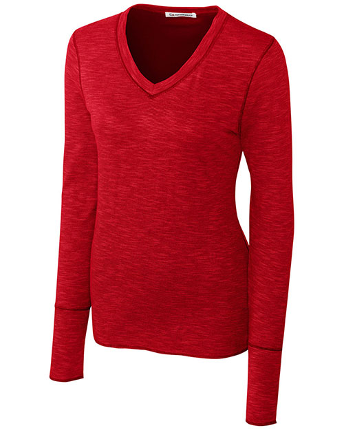 Cutter & Buck LCK02469 Women Long Sleeve Reversible Formation Knit at GotApparel