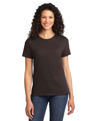 Port & Company LPC61 Women Essential TShirt Dark Chocolate Brown at GotApparel