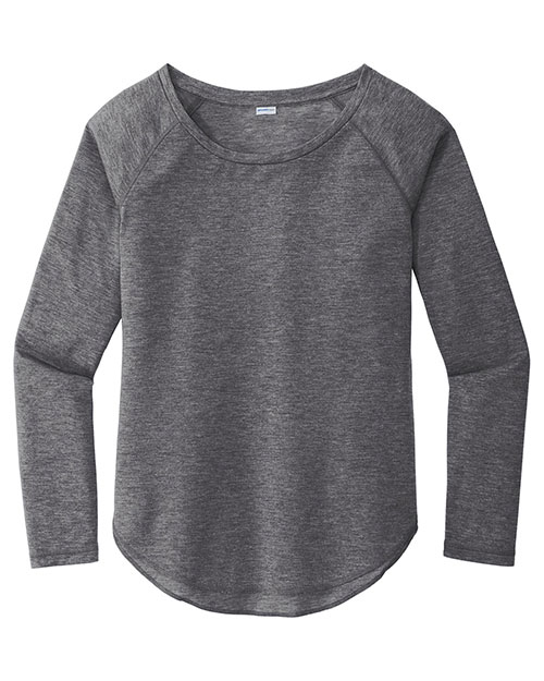 Sport-Tek LST400LS Women PosiCharge ® Long Sleeve Tri-Blend Wicking Scoop Neck Raglan Tee at GotApparel