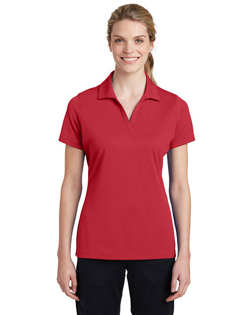 Sport-Tek LST640 Women's Posi-Charge RacerMesh Polo True Red at GotApparel