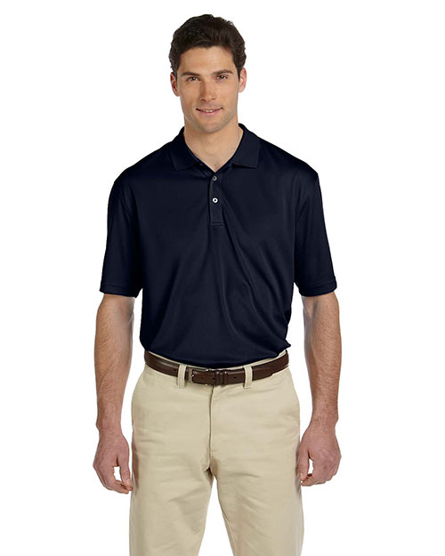 Harriton M353 Men Double Mesh Sport Shirt Navy at GotApparel