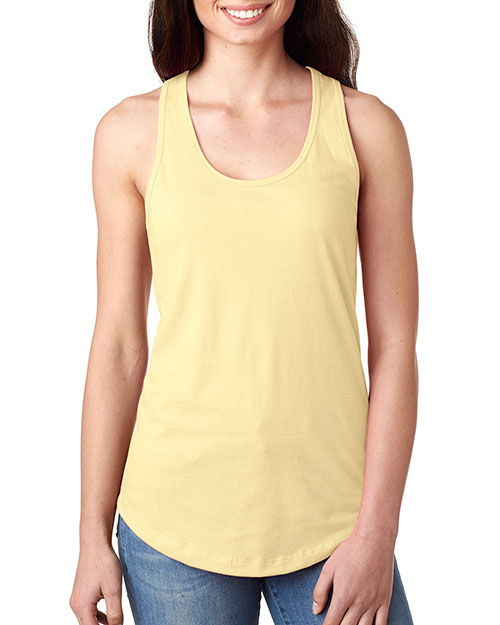 Next Level 1533 Women The Ideal Racerback Tank Banana Cream at GotApparel