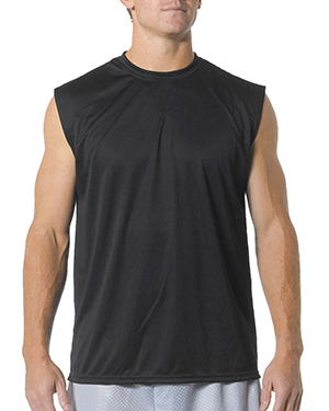A4 Drop Ship N2295 Men's Cooling Performance Muscle T-Shirt Black at GotApparel