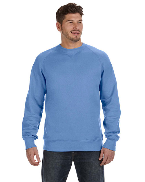 Hanes N260 Men 7.2 oz. Nano Crew Vintage Blue at GotApparel
