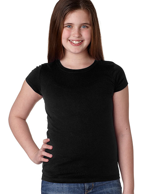 Next Level 3710 Girls The Princess Tee Black at GotApparel