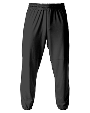 A4 Drop Ship N6120 Men's Pull-On Baseball Pant Black at GotApparel