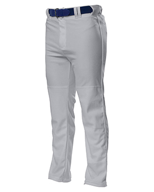 A4 N6162 Men's Drop Ship Pro Style Open Bottom Baggy Cut Baseball Pants Grey at GotApparel