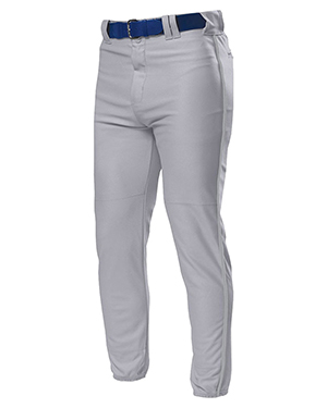 A4 Drop Ship N6178 Men's Pro Style Elastic Bottom Baseball Pants Grey at GotApparel