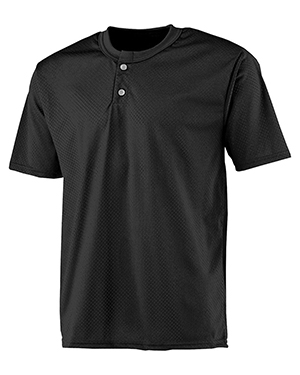 A4 NB4130 Boys 2-Button Mesh Henley Black at GotApparel