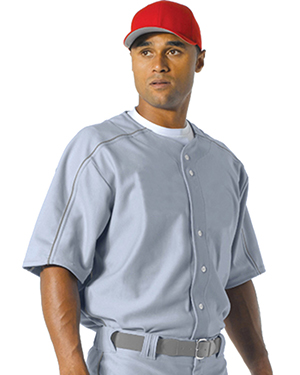 A4 NB4214 Boys Warp Knit Baseball Jersey Grey at GotApparel