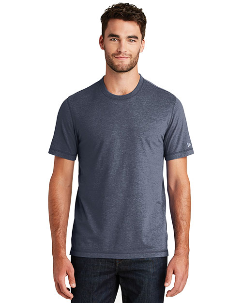 Custom Embroidered New Era NEA120 Men 5 oz Sueded Cotton Blend Crew Tee at GotApparel