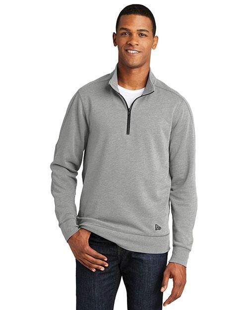 New Era NEA512 Men 7 Oz. Tri-Blend Fleece 1/4-Zip Pullover