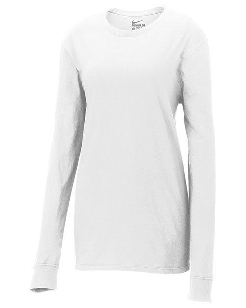 Nike NKCD7300 Ladies 4.4 oz Core Cotton Long Sleeve Tee at GotApparel