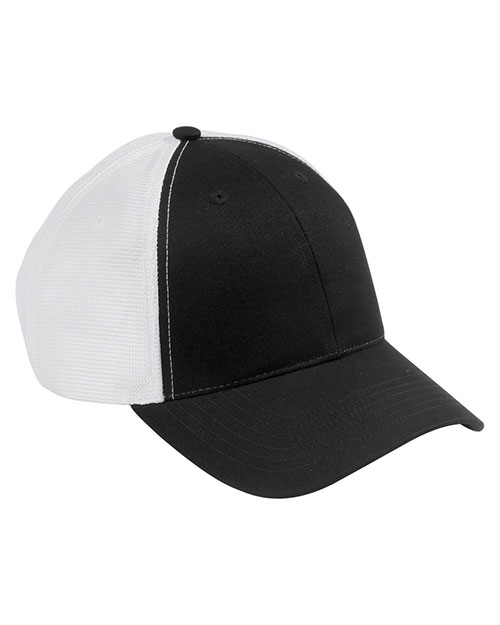 Big Accessories / BAGedge OSTM Unisex Old School Baseball Cap with Technical Mesh Black/White at GotApparel