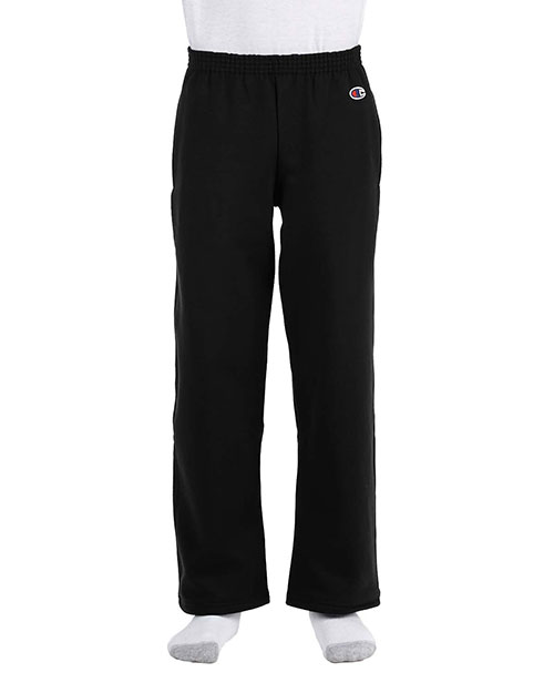 Custom Embroidered Champion D243 Boys 50/50 Open Bottom Sweatpants at GotApparel