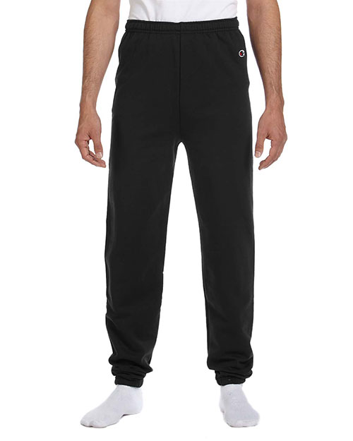 Champion P2443C Men 9 Oz., 50/50 Sweatpants Black at GotApparel