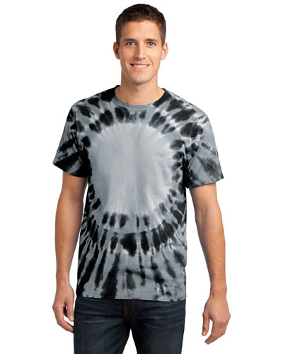 Port & Company PC149 Men Essential Window TieDye Tee Black at GotApparel