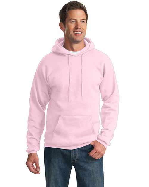 Port & Company PC90H Men Ultimate Pullover Hooded Sweatshirt Pale Pink at GotApparel