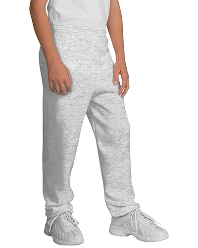 Port & Company PC90YP Boys Sweatpant Ash at GotApparel