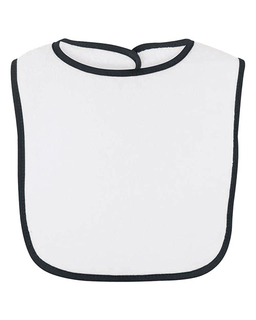 Rabbit Skins R1003 Infants Snap Bib Black at GotApparel