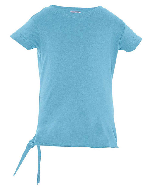 Rabbit Skins R3325 Toddlers Side Tie T-Shirt Aqua at GotApparel