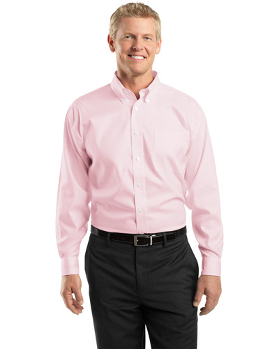 Red House TLRH24 Adult Tall NonIron Pinpoint Oxford Pink at GotApparel