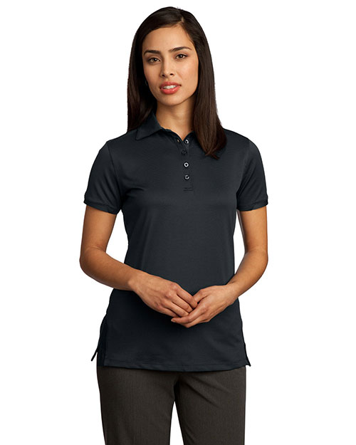 Red House RH52 Women Ottoman Performance Polo Black at GotApparel