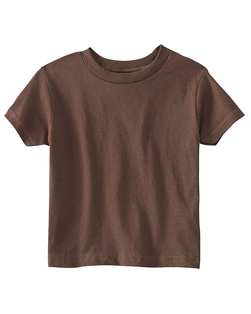 Rabbit Skins RS3301 Toddlers S/S T Brown at GotApparel