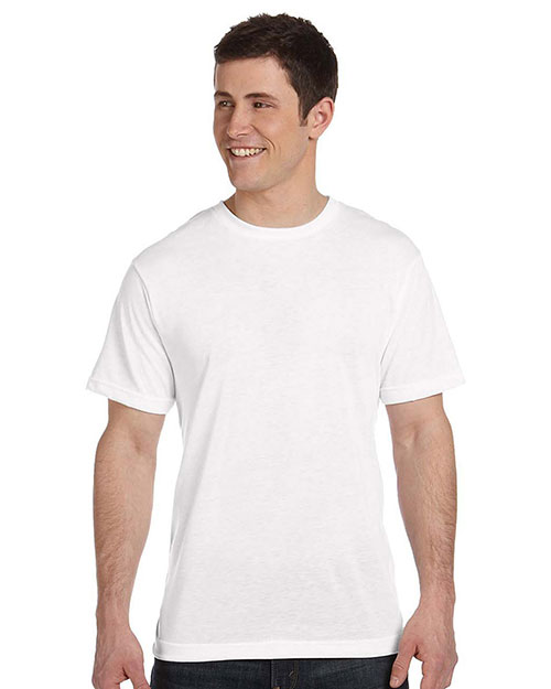 Sublivie S1910 Men Polyester T-Shirt White at GotApparel