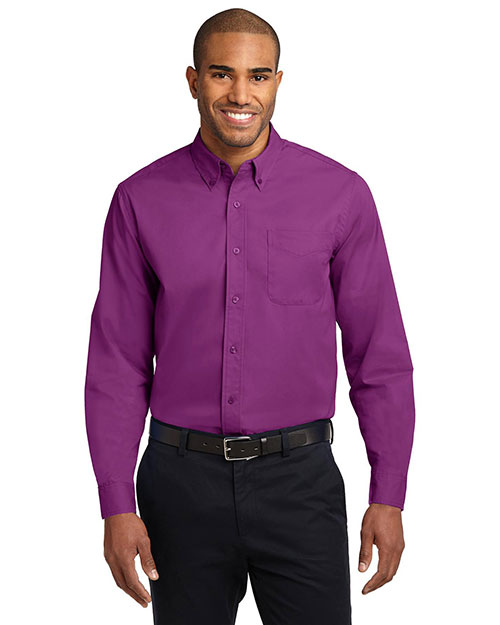 Port Authority® S608 Men's Long-Sleeve Easy Care Shirt Deep Berry at GotApparel