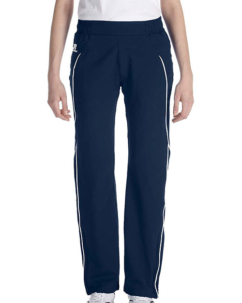 Russell Athletic S82JZX Women Team Prestige Pant Navy/White at GotApparel