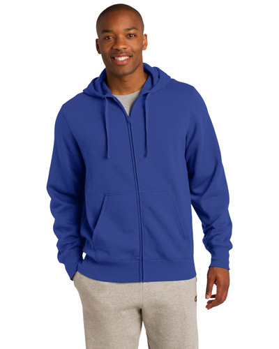 Sport-Tek TST258 Men Tall FullZip Hooded Sweatshirt True Royal at GotApparel