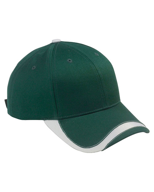 Big Accessories / BAGedge SWTB Unisex Sport Wave Baseball Cap Forest/White at GotApparel