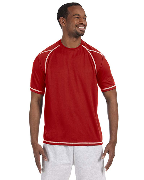 Champion T2057  Double Dry T-shirt with Odor Resistance SCARLET at GotApparel
