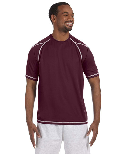Champion T2057 Men Double Dry 4.1 oz. Mesh TShirt Maroon at GotApparel
