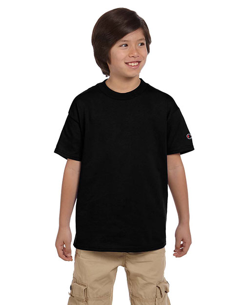 Custom Embroidered Champion T435 Boys 6.1 Oz. Short-Sleeve T-Shirt at GotApparel