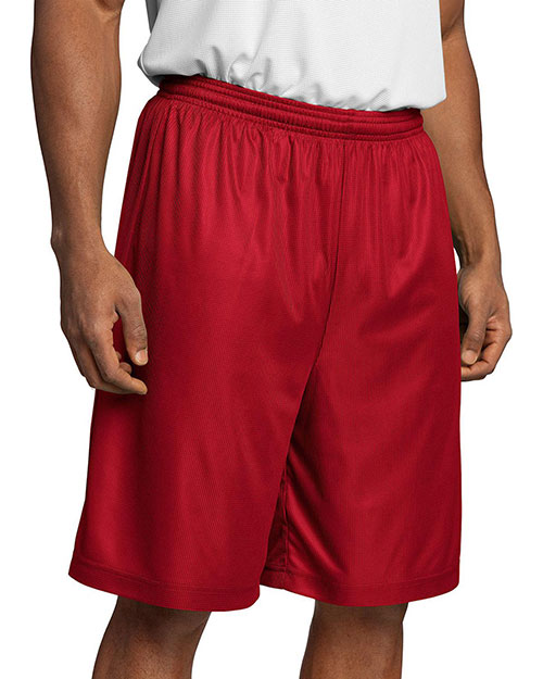 Sport-Tek T560 Men PosiCharge Mesh™ Reversible Short True Red/White at GotApparel