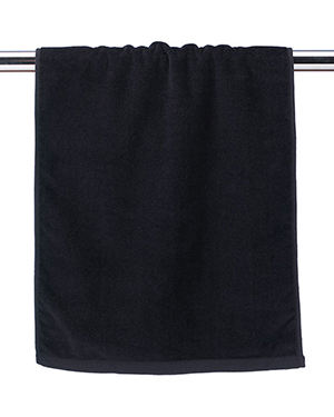 Towels Plus by Anvil T680AN Anvil Hemmed Hand Towel. T680 Black at GotApparel