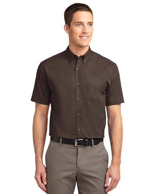 Port Authority TLS508 Men Tall Short-Sleeve Easy Care Shirt at GotApparel