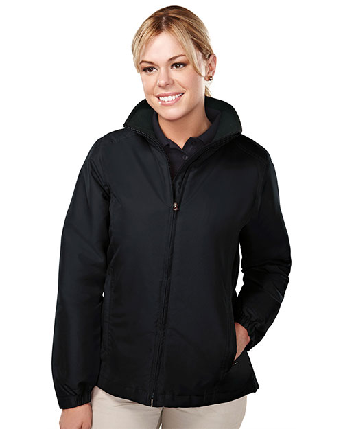 Tri-Mountain 8860 Women Sequel Long Sleeve With Water Resistant Jacket Black/Black at GotApparel