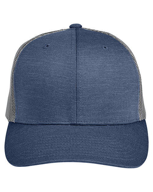 Team 365 TT802 Adult 3.8 oz Zone Sonic Heather Trucker Cap at GotApparel