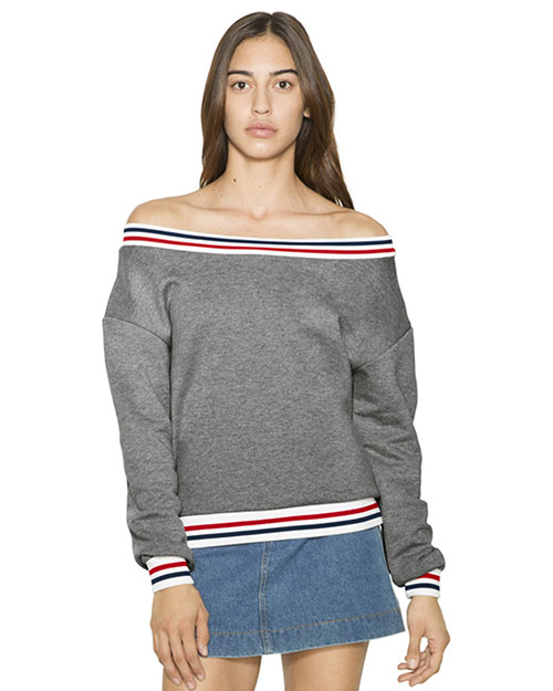 Custom Embroidered American Apparel VT4397W Women Heavy Terry Sport Sweatshirt at GotApparel