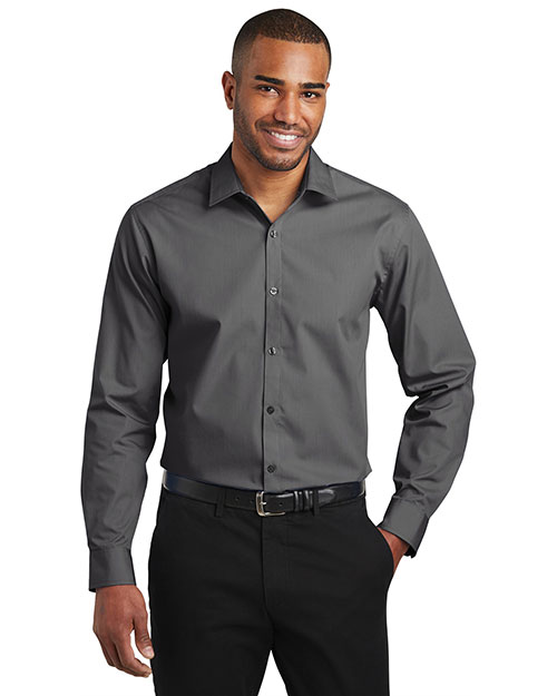 Port Authority W103 Men 3.3 oz Carefree Poplin Shirt at GotApparel